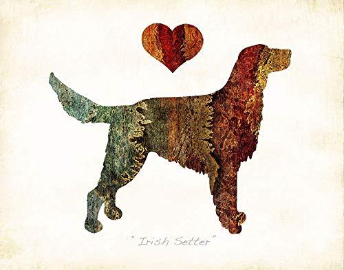 (IRISH SETTER Dog Breed Art Print by Dan Morris)