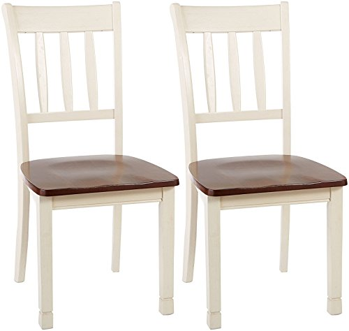 Signature Design by Ashley D583-02 Dining Chair, Beige Butcher Block Table Chairs