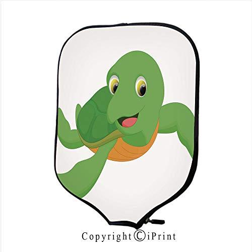 Lightweight Neoprene Single Pickleball Paddle Cover,Cute sea Turtle cartoon7(Size:8.23