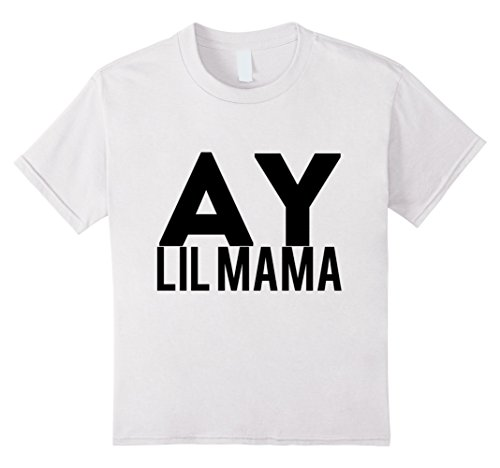 Kids Ay Lil Mama T-Shirt 4 White