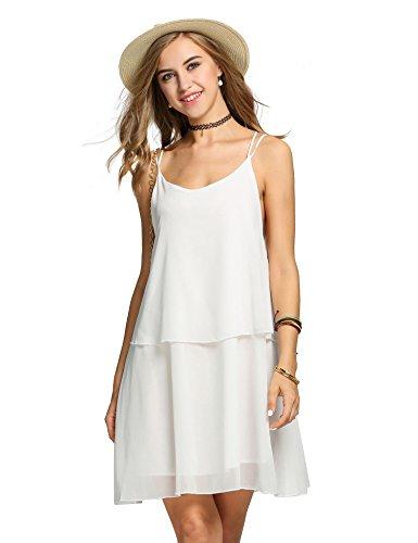 ZEARO Sexy Damen Minikleid Partykleid Abendkleid Sommerkleid Chiffon ...