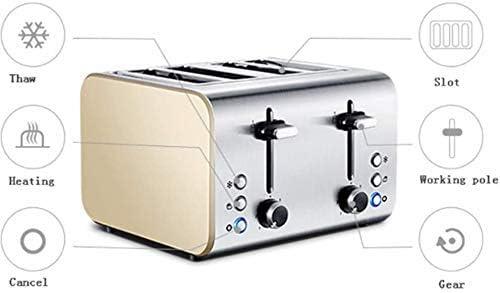 Grille-Pain À Pain en Acier Inoxydable 1400W Machine À Petit Déjeuner À La Maison Sandwich 4 Pièces Machine De Cuisson À Pain Facile À Utiliser