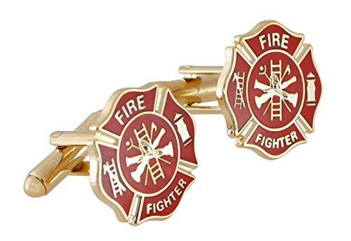 Forge Firefighter Maltese Cross Enamel Cufflinks (Gold - Tone Cross Maltese Gold