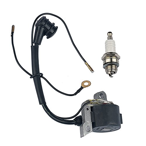 HIPA Ignition Coil with Spark Plug for STIHL 024 026 028 029 034 036 038 039 044 048 MS240 MS260 MS290 MS310 MS360 MS360C MS390 MS440 MS640 Chainsaw (Wire Plug Assy)