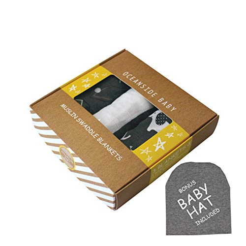 (Baby Swaddle Wrap ❙ Muslin Blankets Swaddles ❙ Baby Receiving Blankets ❙ Newborn Velcro Swaddle Blanket Swaddler, Infant Swaddle Set, Swaddle and Headband Set, Sleep Sack Newborn, 100% Organic Bamboo)