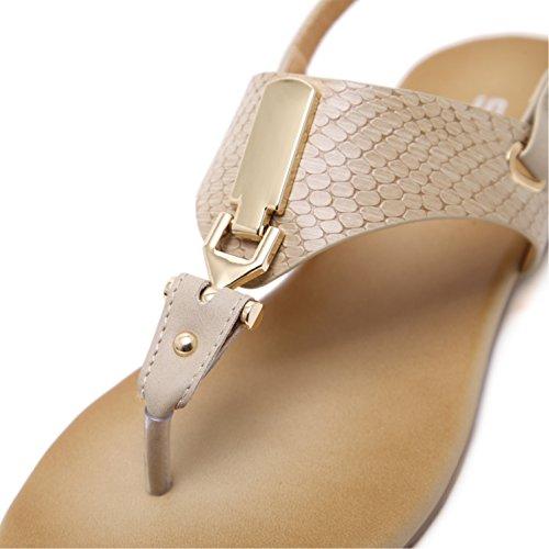 Dolphingirl Summer Glitter T Strap Sandali Piatti Prime Semplici Scarpe Glitter Infradito Nude 296