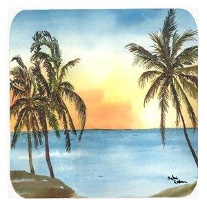 - Caroline's Treasures 8551FC Palm Tree Foam Coasters (Set of 4), 3.5