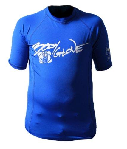 Body Glove Juniors Short Arm Lycra Rash Guard Shirt (Royal, 8/5X)