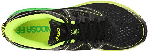 ASICS Mens Noosa FF Running Shoe Black/Green Gecko/Safety Yellow zpcMjx