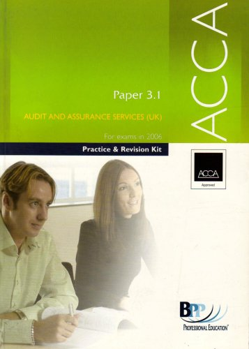ACCA Paper 3.1 Audit and Assurance Services