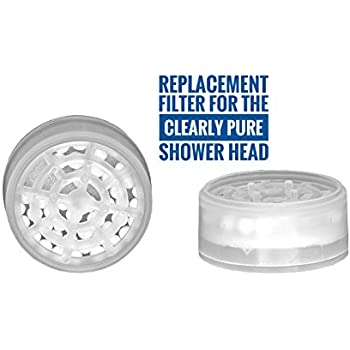 Barclay's Buys - Dechlorinating Shower Filter and Reduces Dissolved Solids - Helps Dry Hair and Itchy Skin - Spa Water Pressure - Designed for The Clearly Pure Shower Head