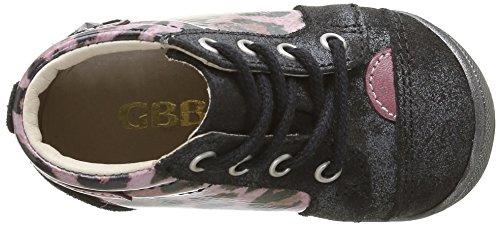 GBB Nicole - Zapatos de primeros pasos Bebé-Niños Multicolor - Multicolore (41 Crt Noir/Leop Vx Rose Dpf/Kezia)