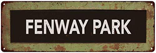 Chico Creek Signs Fenway Park Trollery Bus Roll Vintage Look Metal Sign 6x18 106180072015