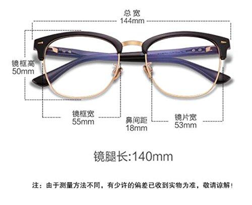 plateado gafas radiaciones negro las contra contra brillante Tan KOMNY luz Gafas Marco protección de Antique azul vidrios planos la SxnFp5wqZ