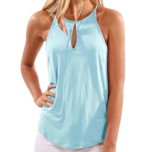 men Summer O-Neck Crop Tops Blouse T-Shirt (Light Blue, S) (Strapless Poplin)