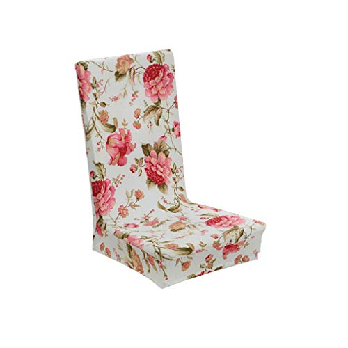 RXIN 2PC Chair Cover Flower Printing Removable Stretch Elastic Slipcovers Restaurant for Weddings Banquet Folding Hotel