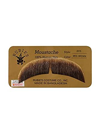 Rubie's Costume Company Black Mustache Made with Real Human Hair