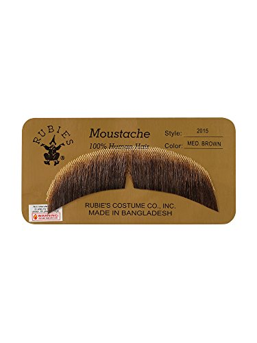 Rubie's Basic Character Mustache Human Hair Medium Brown