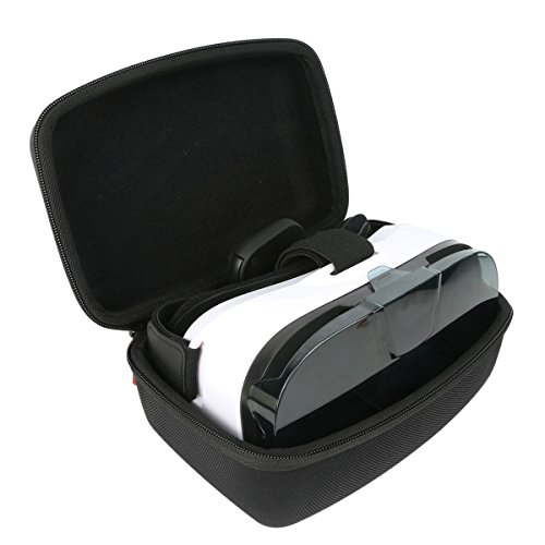 Khanka EVA Hard Case Travel Carrying Storage Bag For Samsung Gear VR - Virtual Reality Headset - Black