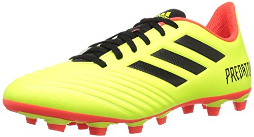 - adidas Men's Predator 18.4 Firm Ground Soccer Shoe, Yellow/Black/Solar red, 7 M US