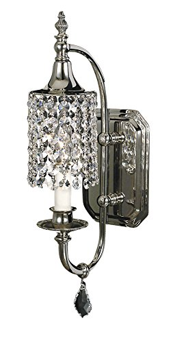Framburg 2041 PS 1-Light Princessa Sconce, Polished (Framburg Silver Sconce)
