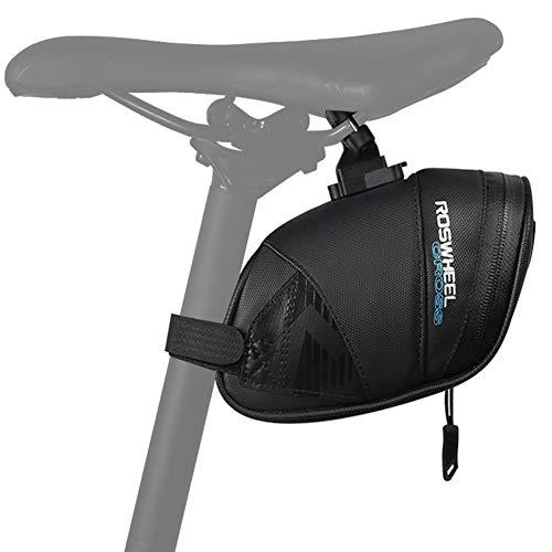 WOTOW Bolsas de bicicleta ciclismo, Bolsa de sillín de bicicleta a prueba de lluvia, encerado debajo del asiento Paquete de...
