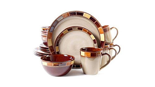 Casa Estebana Multi-colored Reactive Glaze Stoneware 16-Piece Dinnerware Set