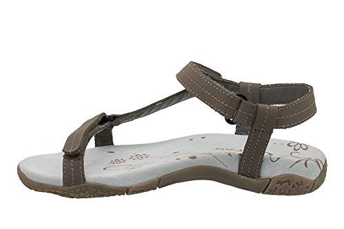 Kefas - Athens 3349 - Walking and Outdoor Sandals, Women's PU Nubuck, Rubber Sole Eva Brown