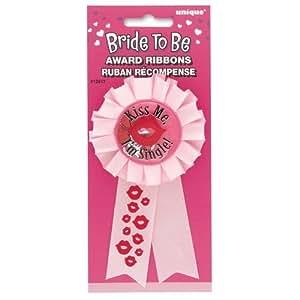 Unique Party Supplies - Insignia para despedida de soltera, diseño de besos, color rosa