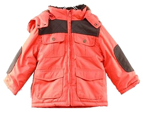Hawke & Co Orange Hooded Parka Baby Boy's Outerwear Jacket Sz 12m, 18m, 24m (18M)