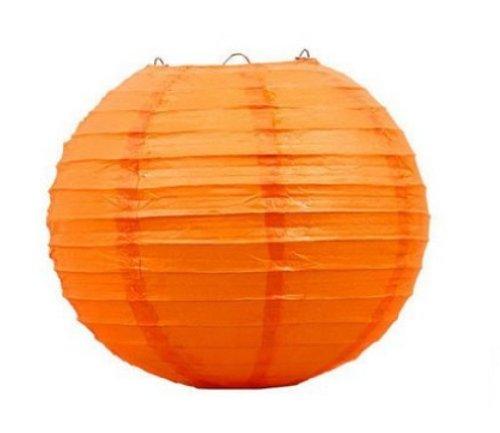 Liroyal-10-Orange-Round-Paper-Lantern-10-Pack