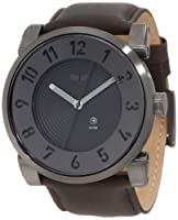 Vestal Men's DOP003 Doppler Oversized Matte Black Ion-Plated Case Black Leather Watch from Vestal