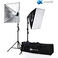 700W Photography Softbox Studio Lighting Kit 24X24, Proxelle Professional Photography Soft Box Light Set Photo Shoot Standing Lights Equipment for Photographers