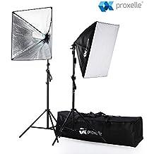 "700W Photography Softbox Studio Lighting Kit 24""X24"", Proxelle Professional Photography Soft Box Light Set Photo Shoot Standing Lights Equipment for Photographers"