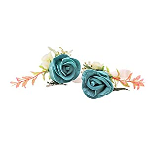 Abbie Home Real Touch Prom Corsage Boutonniere Set Flower Pin Wristlet for Party 50