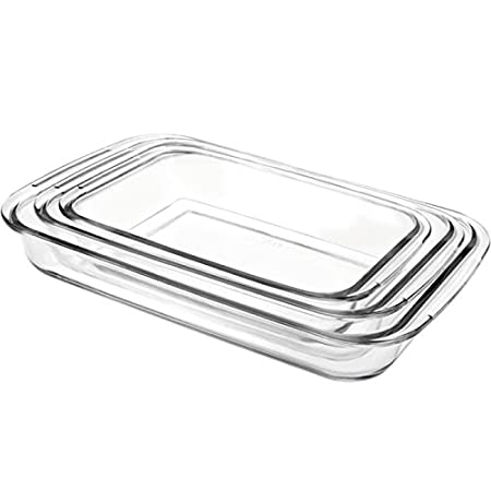 IBILI 480700 - Set 3 Fuente Horno Rectangular Kristall: Amazon.es ...