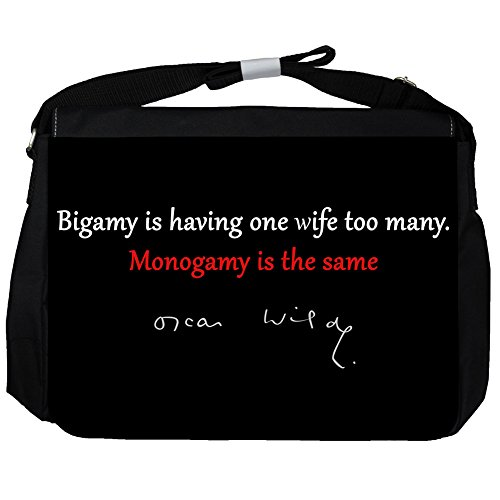 Bigamy is having - Oscar Wilde Unisex Umhängetasche