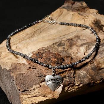 Heart Shape Pendant Blessed Necklace for Women Choker Natural Stone Boho Necklaces Pendants Yoga Jewelry - Spectrolite