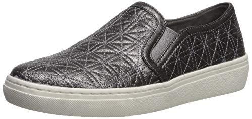 Skechers Womens Goldie-Distressed Metallic Quilted Slip on Sneaker