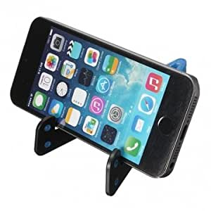 New Universal Foldable Stand Holder + Winder For iPhone Smartphone Tablet & Color = Blue