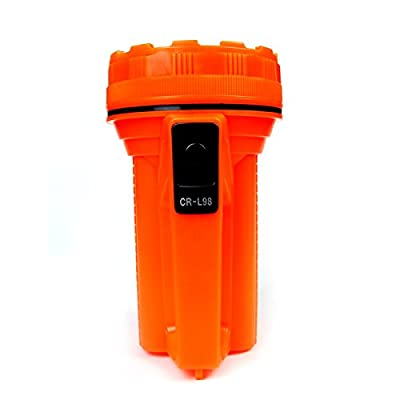 FACTOLITE CR-L98 LED Mega Lantern Using 6V Battery, 200 lm, High Visibility Mega Spotlight/LED Flashlight/Carriage Lantern, 3W, Orange