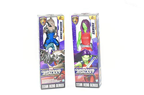 - Five Marvel Guardians of The Galaxy Titan Hero Series Gamora and Marvel Titan Hero Series Rocket Raccoon Bundle (L&B) 2 Items