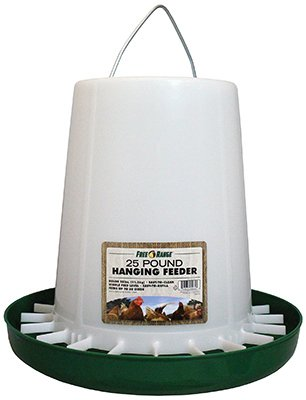Harris Farms Plastic Hanging Poultry Feeder, 25 Pound