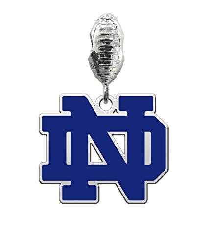 Irish Beaded Bracelet (University of Notre Dame Fighting Irish Silver Football Color Dangle Fits All European Style Charm Bracelets)