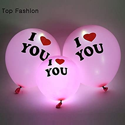 Jiada I Love You Led Balloons Multicolour Pack Of 5 Amazonin