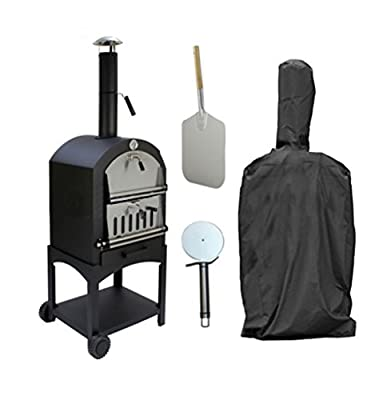 Elevavie Outdoor Pizza Oven Rain Cover Charcoal Fired Bread Oven Smoker BBQ Cover 58 x 45 x 168cm