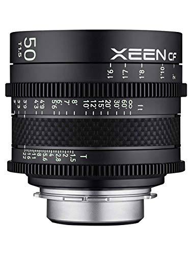 ROKINON XEEN Cf 50mm T1.5 Pro Cinema Lens with Carbon Fiber Construction & Luminous Markings for ARRI PL Mount
