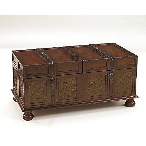 Ashley Furniture Signature Design   McKenna Coffee Table With Storage    Cocktail Height   Dark Brown