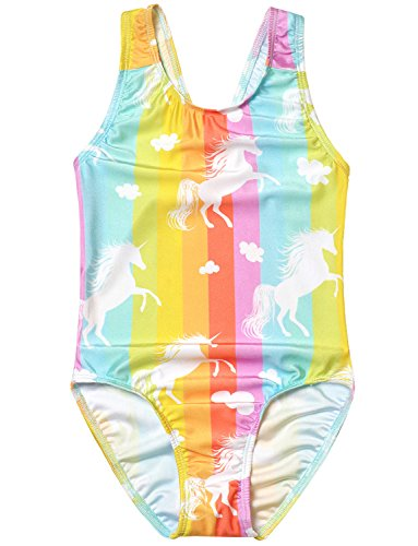 cadbc4a299 Girls Bathing Suits Unicorn Mermaid Swimsuits One Piece Swimwear ...