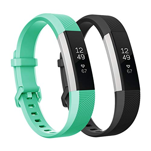 Fundro Replacement Bands Compatible with Fitbit Alta Bands and Fitbit Alta HR Band, Newest Sport Strap Wristband with Secure Buckle£¨2- Pack, for Women Men Boys Girls